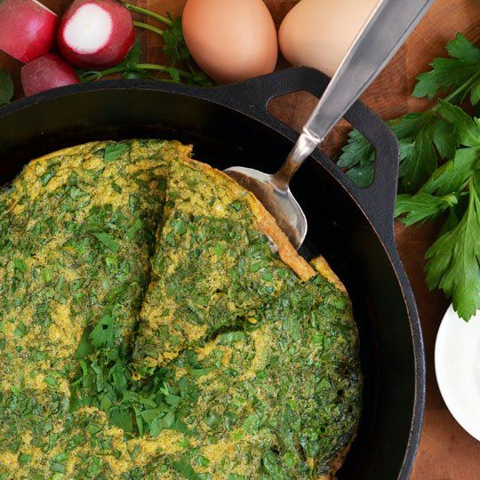 Persian Herb Frittata (Kuku Sabzi) | Recipe | Persian, Herbs and Easy ...