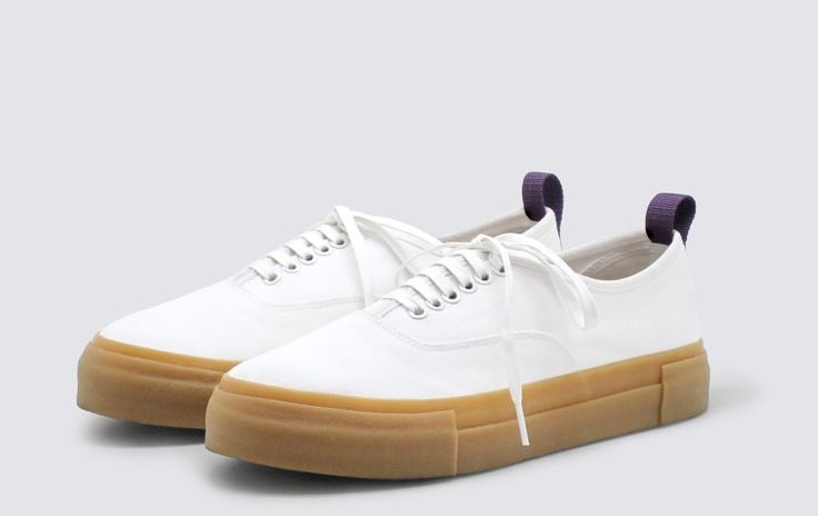 #Eytys x Voo Store. White Mother Canvas sneakers with gum soles.