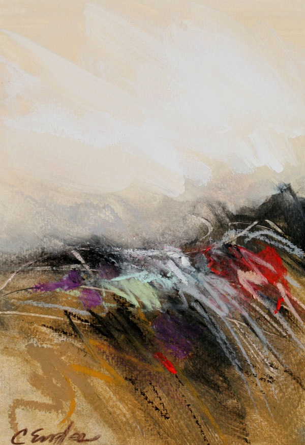 At the Dunes One, acrylic and oil pastel on paper, Carol Engles