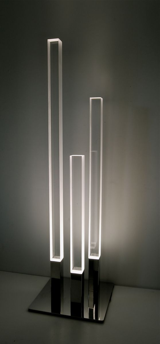 Portable fixtures: floor These are three floor lamps that provide artificial lighting for a room and is able to turn up brightness etc I love these and I don't know what I would change .