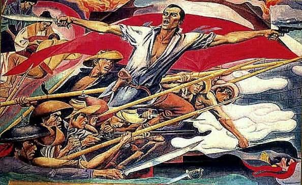 Carlos botong francisco 39 s portrayal of andres bonifacio for Bonifacio mural painting