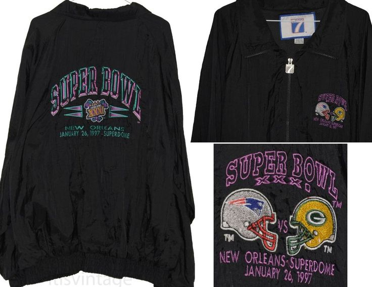 '97 Superbowl New England Patriots Green Bay Packers Superdome Logo 7 Jacket XXL   Clothing, Shoes & Accessories, Men's Clothing, Coats & Jackets   eBay!