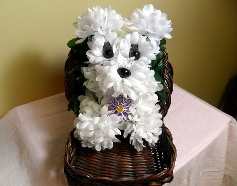 10 images about puppy animal flowers on pinterest - Flower teddy bear arrangement ...