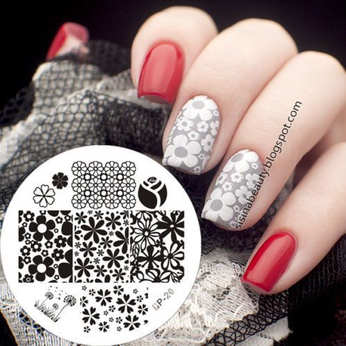 Nail-Art-Stamp-Template-Image-Stamping-Plate-Mixed-Flower-BORN-PRETTY-20