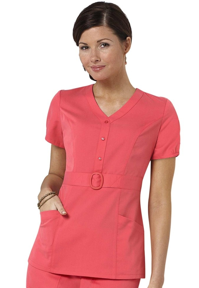 Peachy Scrubs with cute little belt =)
