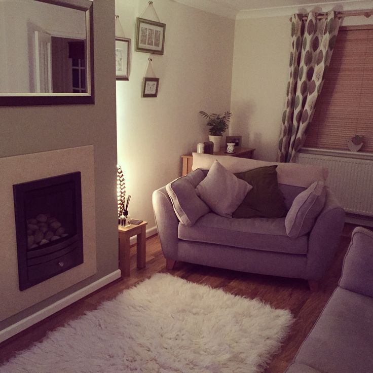 Lounge Rooms: Dulux Overtly Olive Living Room. Green Cosy Homely Next