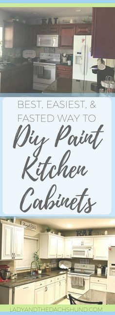 Best Easy & Fast DIY Paint Kitchen Cabinets White