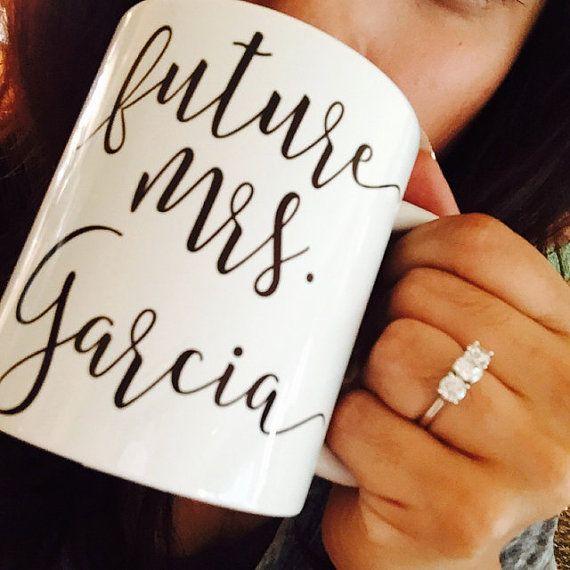 Future Mrs Mug Future Mrs Cup Engaged Mug Engaged Cup by MixMugs