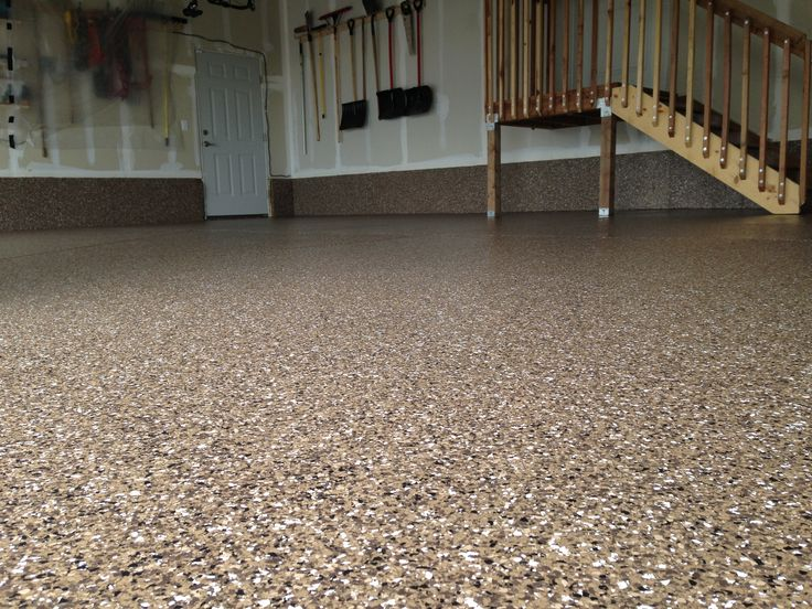 Epoxy Garage Floor Lakewood Co Brown Accent Chips