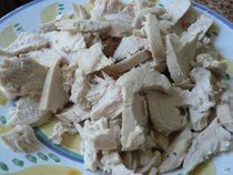Poached Chicken Breast. Good for cooking chicken for recipes so it is tender and flavorful.
