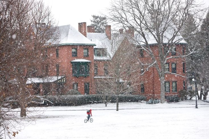 Winter wonderland at the Lawrenceville School