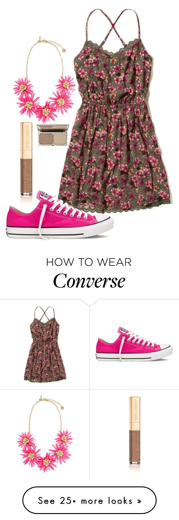 """Good Morning"" by i-dont-want-to-go on Polyvore featuring Hollister Co., Converse, Dolce&Gabbana and Charlotte Tilbury"