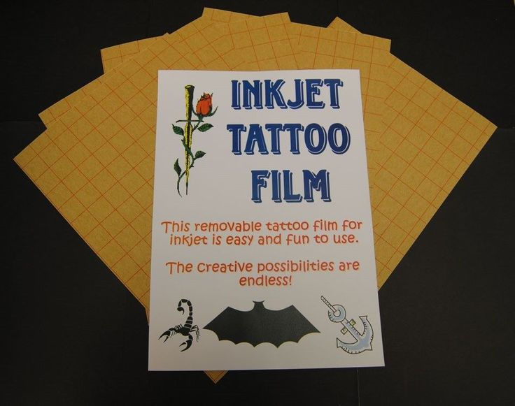 Temporary Tattoo Paper For Inkjet Printers Tattoo Transfer Paper X 5 Sheets