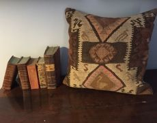 Cushion from an old kelim in my shop