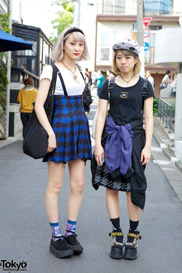 Suspender Skirt & Tokyo Bopper vs. Platform Sandals & Ungaro in Harajuku   it's them-> http://twitter.com/ayhd0063 & http://twitter.com/ai_fsnlooove