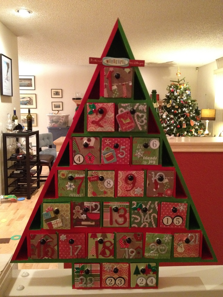 advent calendar! | Christmas craft | Pinterest | Homemade advent ...