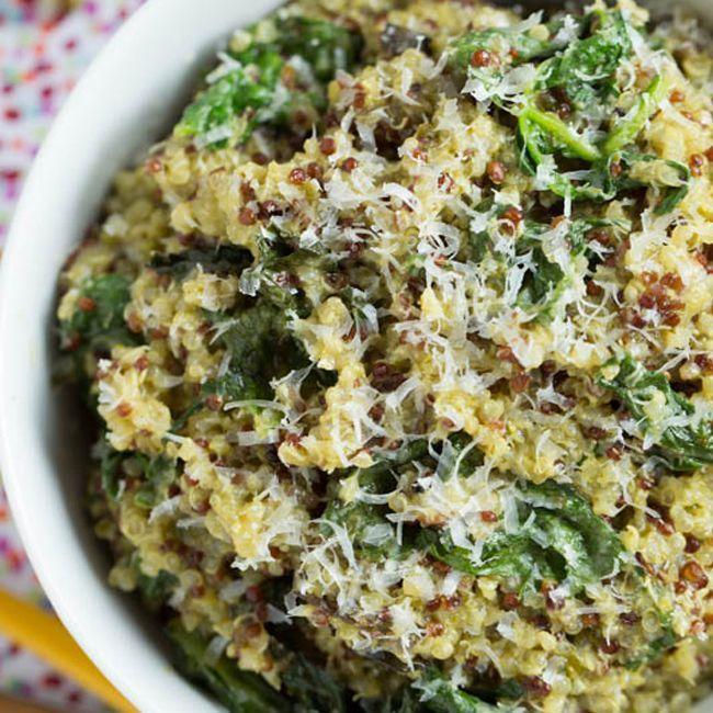Spinach pesto and quinoa bowl