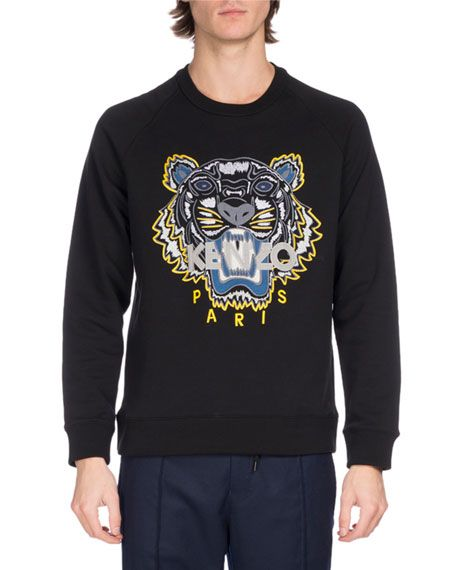 Embroidered Embroidered Logo SweatshirtBlackkenzocloth Tiger Kenzo Kenzo Tiger IY6g7bfyv