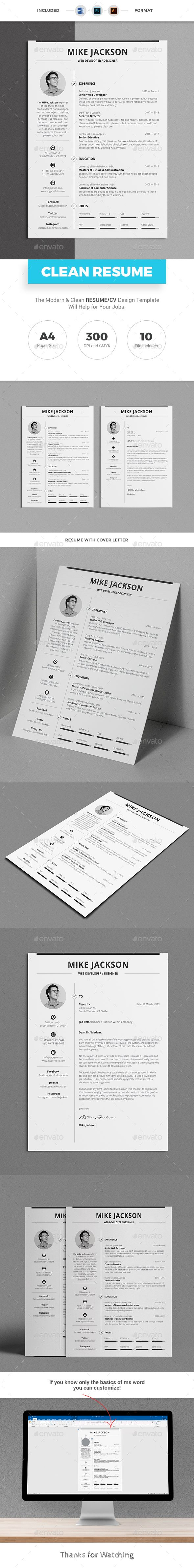 #Resume Pro (A4) Template with super clean and modern look. Resume Template page designs are easy to use and customize, so you can quickly tailor-make your job resume for any opportunity and help you to get your job. This Infographic Resume CV Template is made in Adobe Photoshop, Illustrator format and very popular word processor, MS Word aka Microsoft Word.