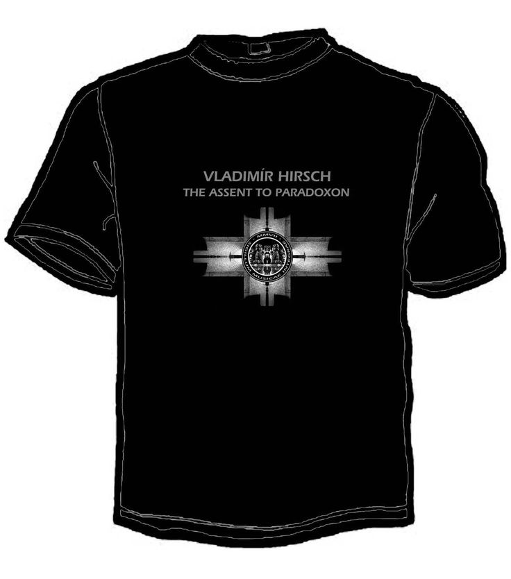 T-shirt front / Vladimír Hirsch - The Assent To Paradoxon / Box (T-shirts included) order@arsbenevolamater.com