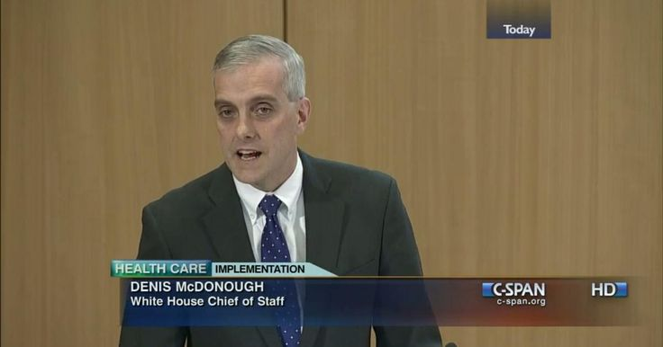 12/3/2013 OBAMACARE: Denis McDonough, WH Chief of Staff, speaks on The Affordable Care Act during a Georgetown University event.