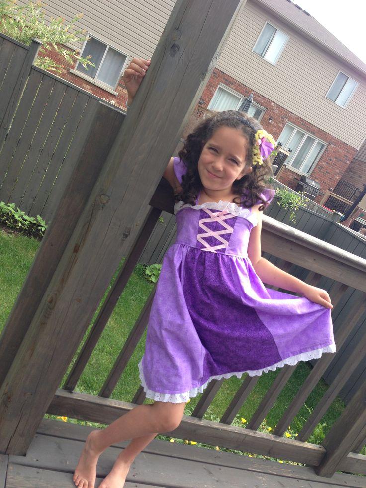 Rapunzel inspired dress.