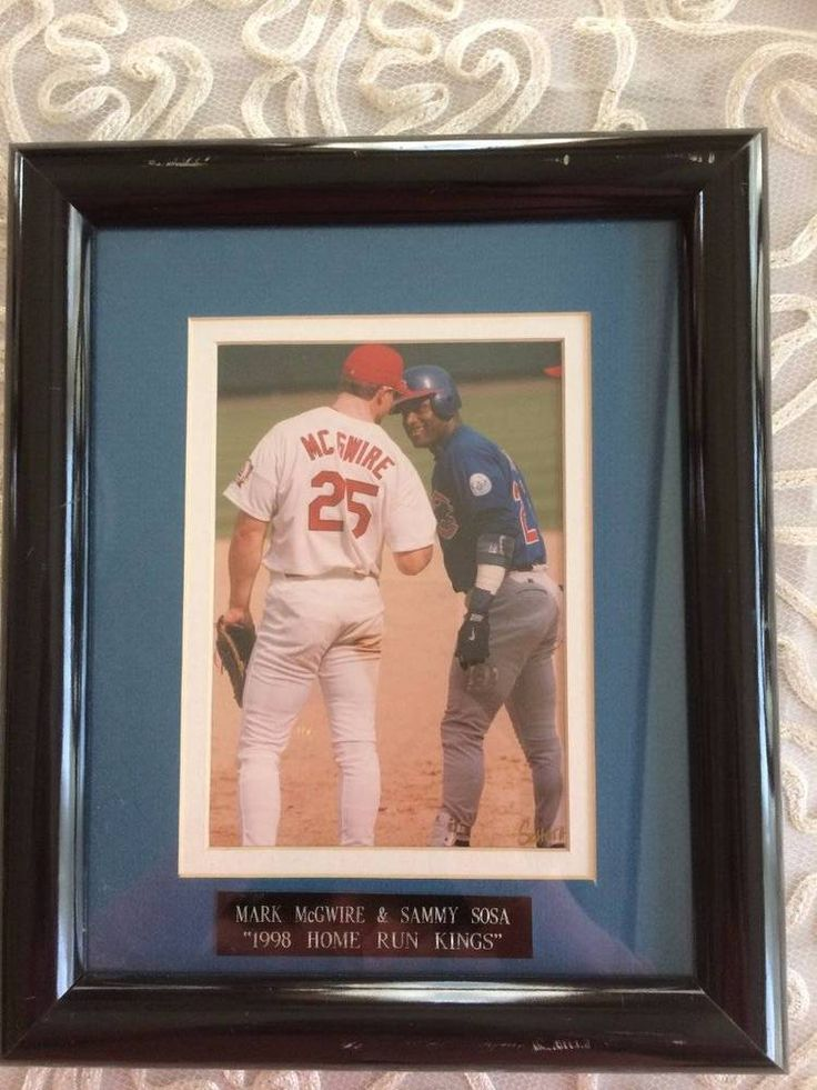"Mark McGwire & Sammy Sosa ""1998 Home Run Kings"" Picture frame"