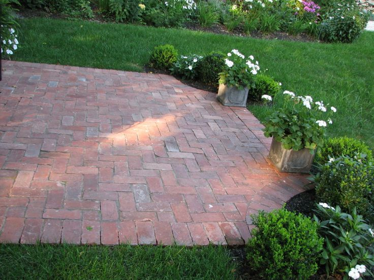 Used brick patio extension to deck