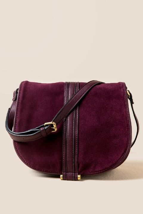 Paxton Suede Saddle Bag