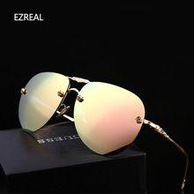 2017 Nova Marca de Moda óculos Polarizados óculos de sol Sapo Espelho óculos de sol dos homens óculos de sol das mulheres designer de marca, EZREAL condução óculos de sol(China (Mainland))