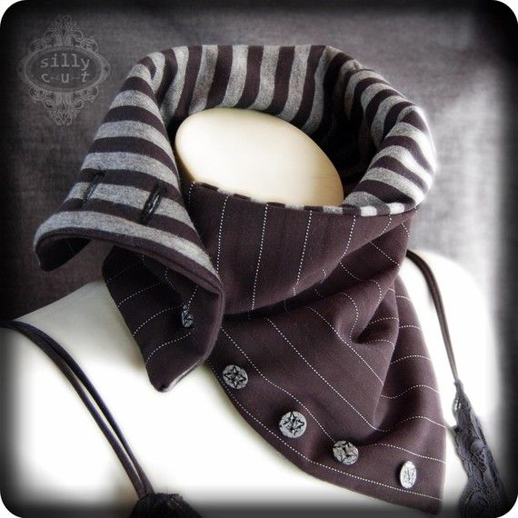 Reserved tube scarf BEETLEJUICE II collar by sillycut on Etsy