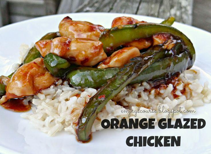 emjay's course: Orange Glazed Chicken | Meals, Foods, Recipes | Pinte ...