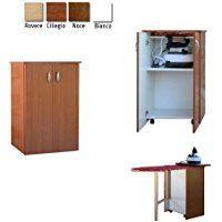 FRASM Jolly - Mueble con tabla de plancha, en madera, color nogal, cerezo o blanco