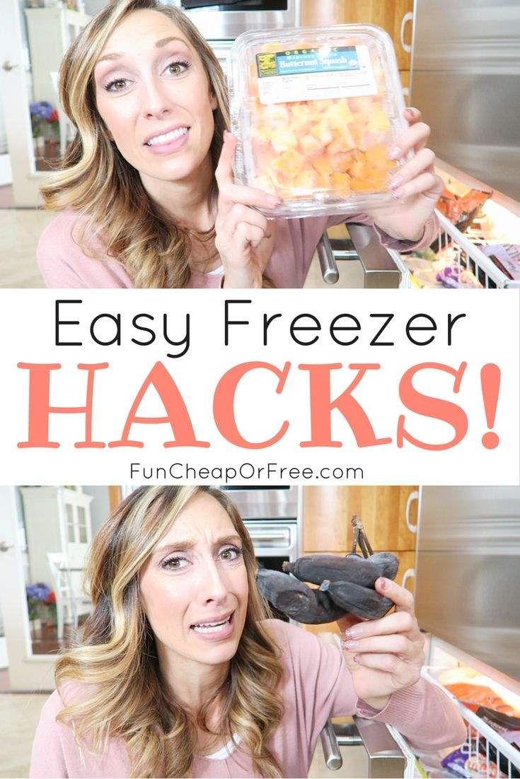 Easy freezer hacks everyone needs to know! Things you can freeze, organization tips, and ways to make your life EASIER.