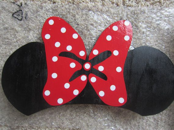 Minnie Mouse DIY Cozy Coupe Kit WITH wooden ears and by LoveAlyBug, $50.00