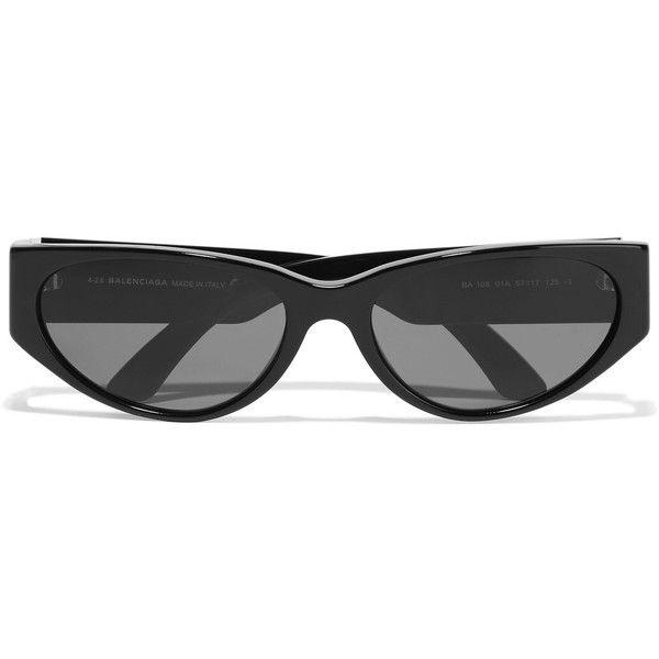 Balenciaga Balenciaga - D-frame Acetate Sunglasses - Black (€230) ❤ liked on Polyvore featuring accessories, eyewear, sunglasses, balenciaga eyewear, balenciaga sunglasses, balenciaga glasses and balenciaga