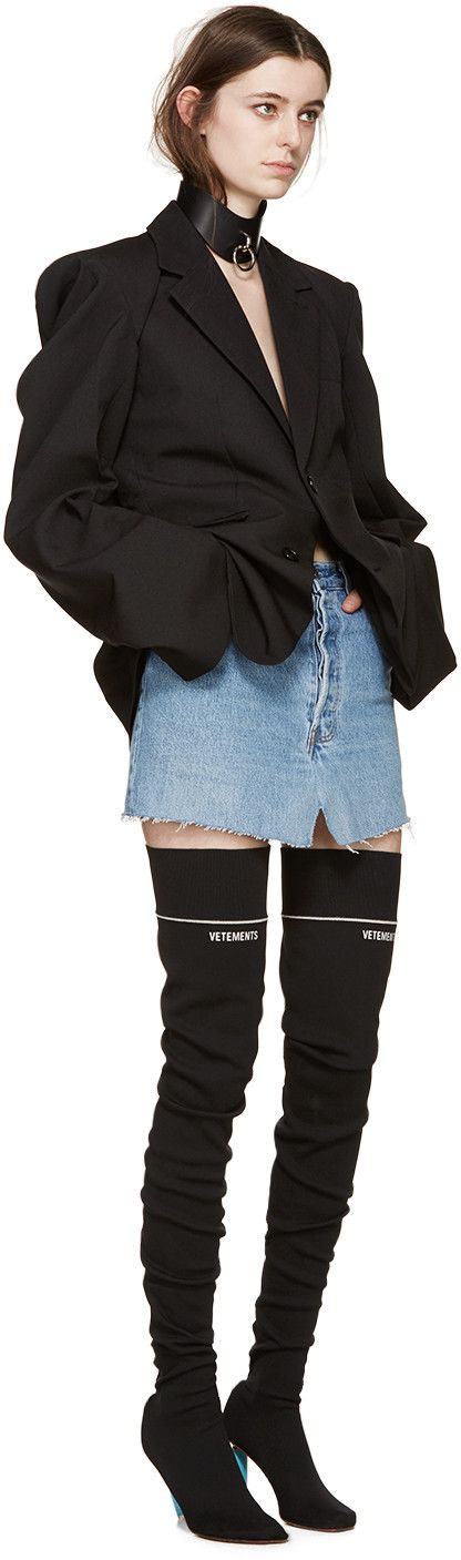 Vetements - Blue Denim Miniskirt