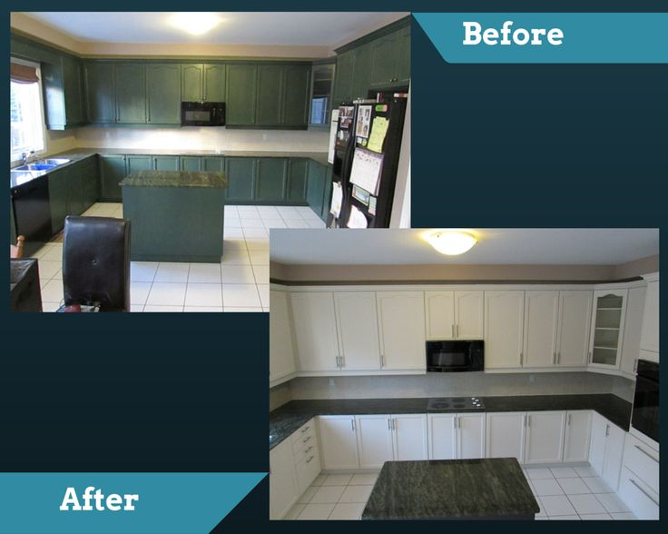 Kitchen refinished by EcoRefinishers. For a free quote, email pictures to sales@ecorefinishers.com or visit our website: www.ecorefinishers.com