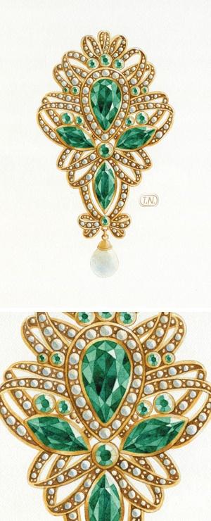 jewelry by Natalia Tyulkina, via Behance