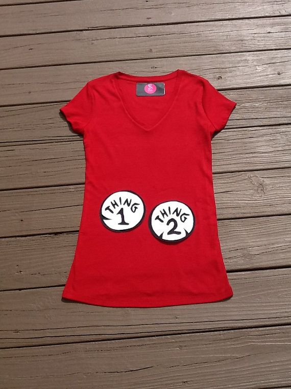 Dr Seuss Thing Mom Maternity Shirt Thing 1 2 By