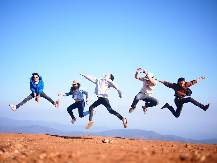 Jump dude.