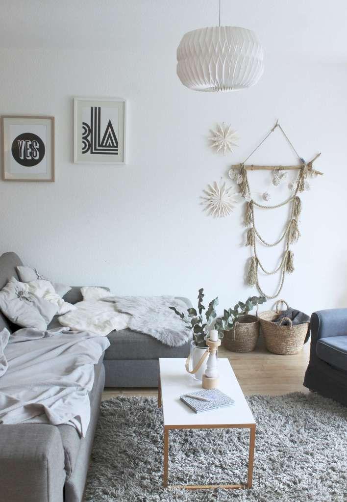 Skandinavischer Wohnstil und andere Dinge, die während der Ferien in - wohnzimmer dekoration grau
