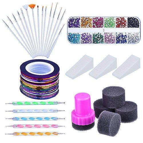 Oferta: 13.67€ Dto: -40%. Comprar Ofertas de Mudder Kit de Arte de Uñas con Pinceles de Arte de Uñas, 12 Colores de Diamantes de Uñas, Pluma de Punto de 2 Extremos, Cinta barato. ¡Mira las ofertas!