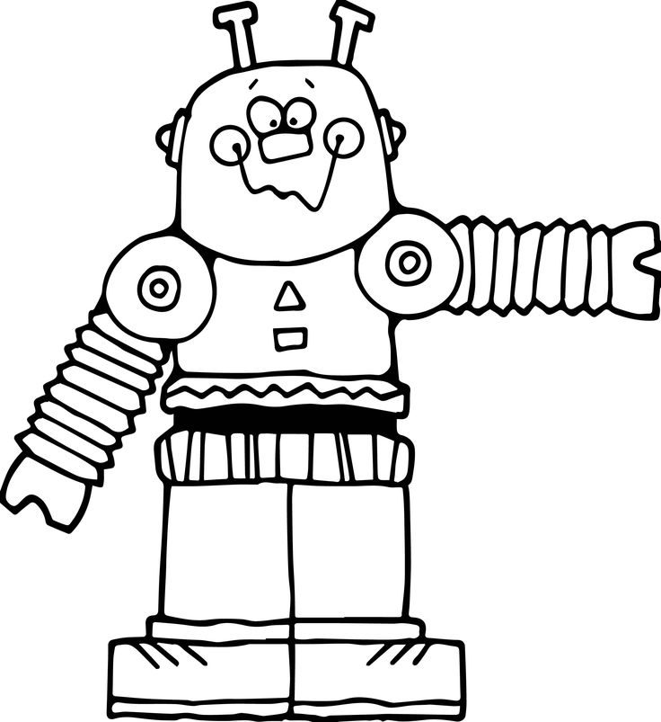 awesome Cute Big Robot Coloring Page | Coloring pages, Big ...