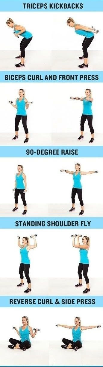 TONE YOUR ARMS IN 7 DAYS. I've been doing these since New Year's Day. Great results.