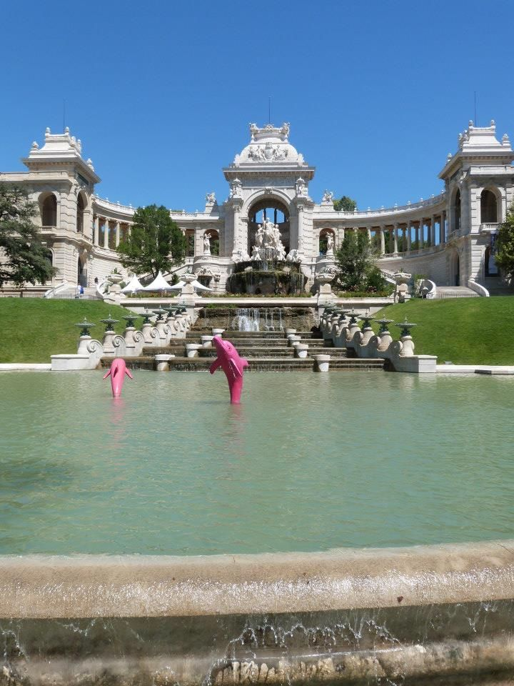 Le Palais Longchamp, non loin de la gare Saint-Charles...