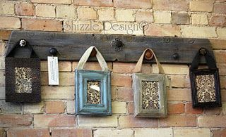 Reclaimed Wood with Vintage Drawer Pulls & Repurposed Picture Frames