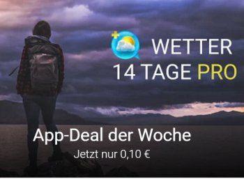 """Google Play: """"Wetter 14 Tage Pro"""" für zehn Cent https://www.discountfan.de/artikel/tablets_und_handys/google-play-wetter-14-tage-pro-fuer-zehn-cent.php Die Wetter-App """"Wetter 14 Tage Pro"""" ist jetzt bei Google Play für eine Woche zum Schnäppchenpreis von 10 Cent zu haben. Das werbefreie Programm bietet unter anderem eine 14-Tage-Vorhersage, Wetterwarnungen und Regenradar. Google Play: """"Wetter 14 Tage Pro"""" für zehn Cent (B... #App, #Wetter"""