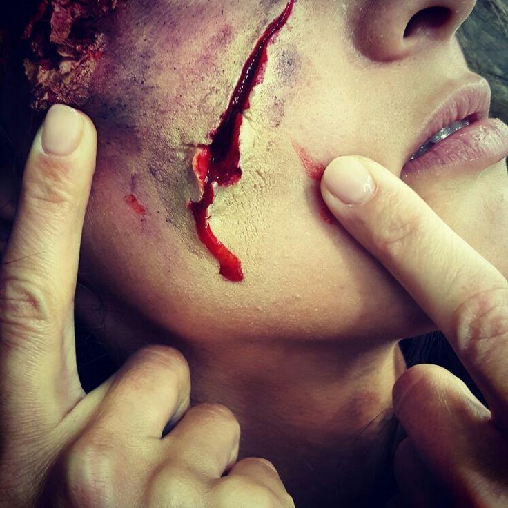 Halloween makeup Cristina Camarzan Dan Aron Brasov Beauty Lounge