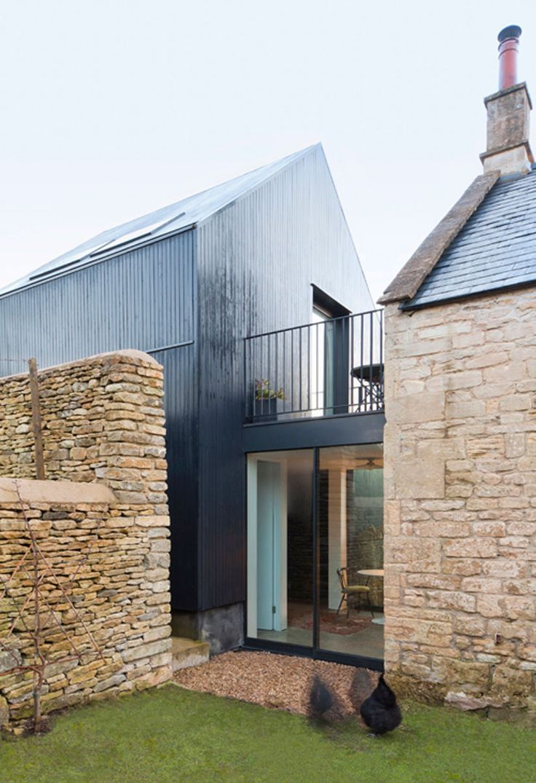 stone building / modern barn